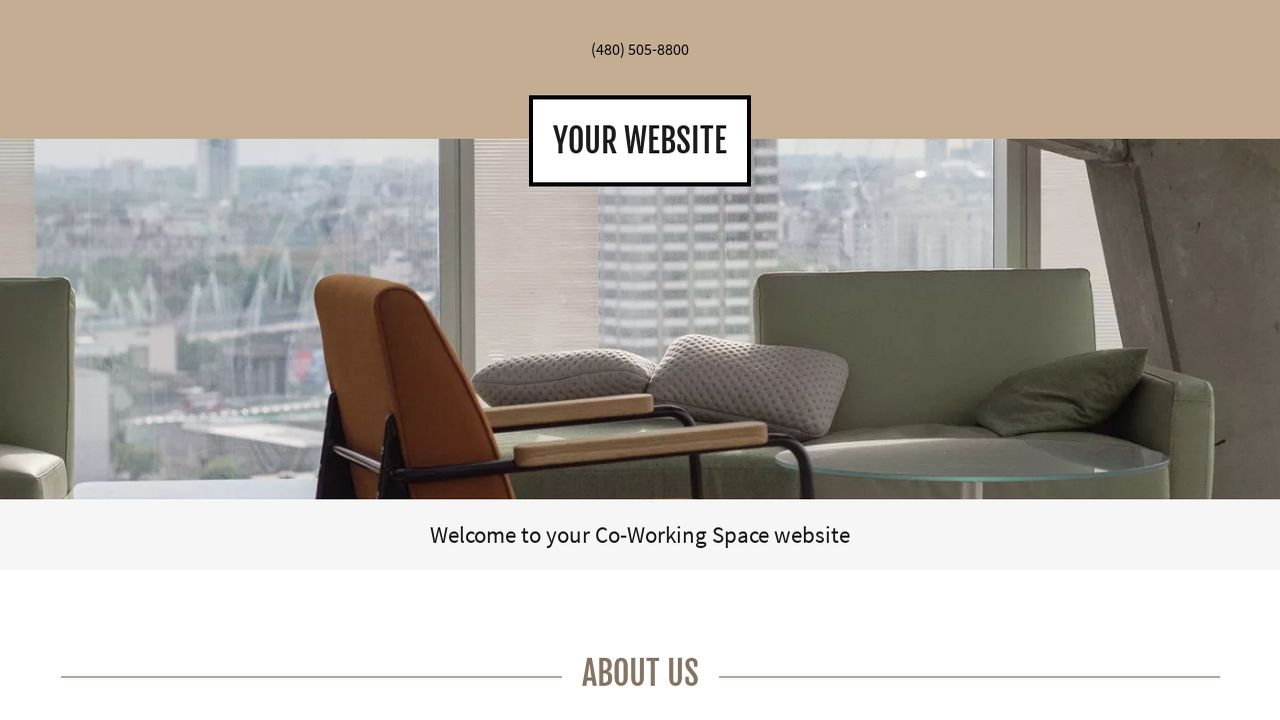 Co-Working Space Website: Example 14