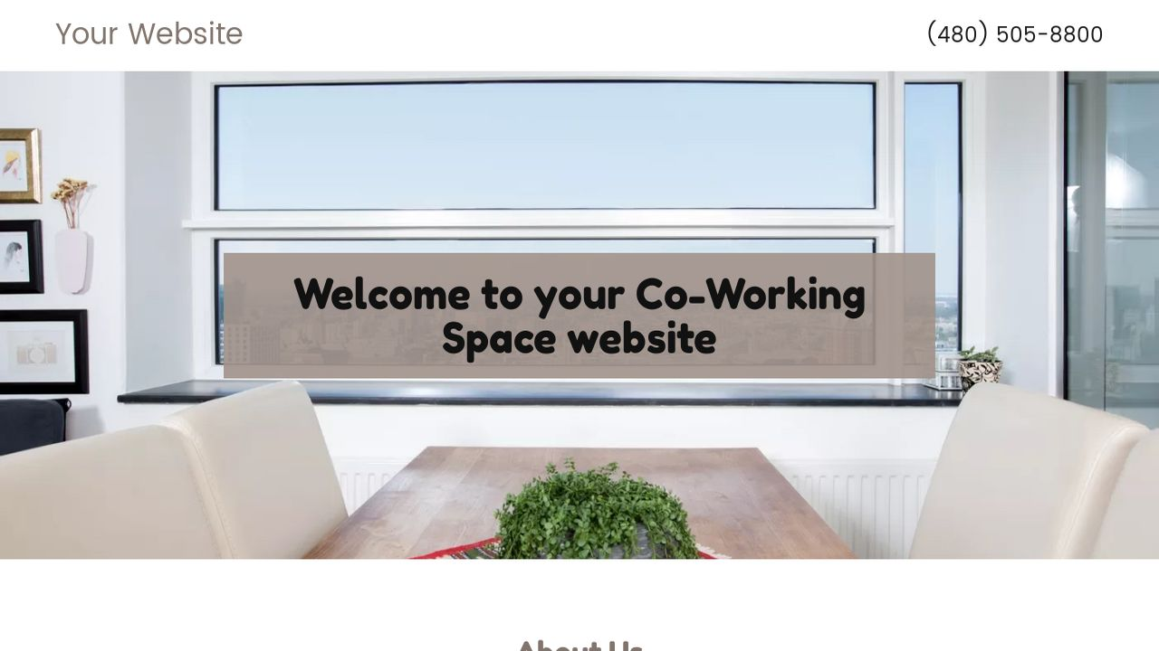 Co-Working Space Website: Example 18