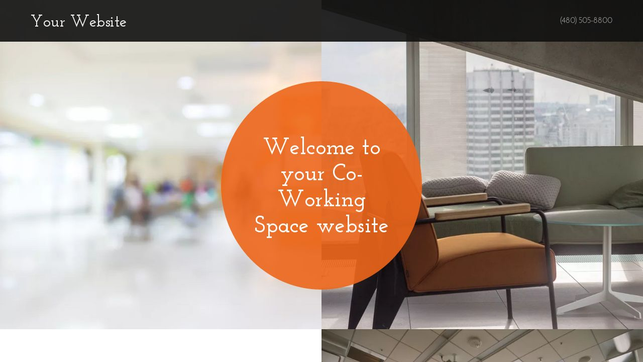 Co-Working Space Website: Example 2