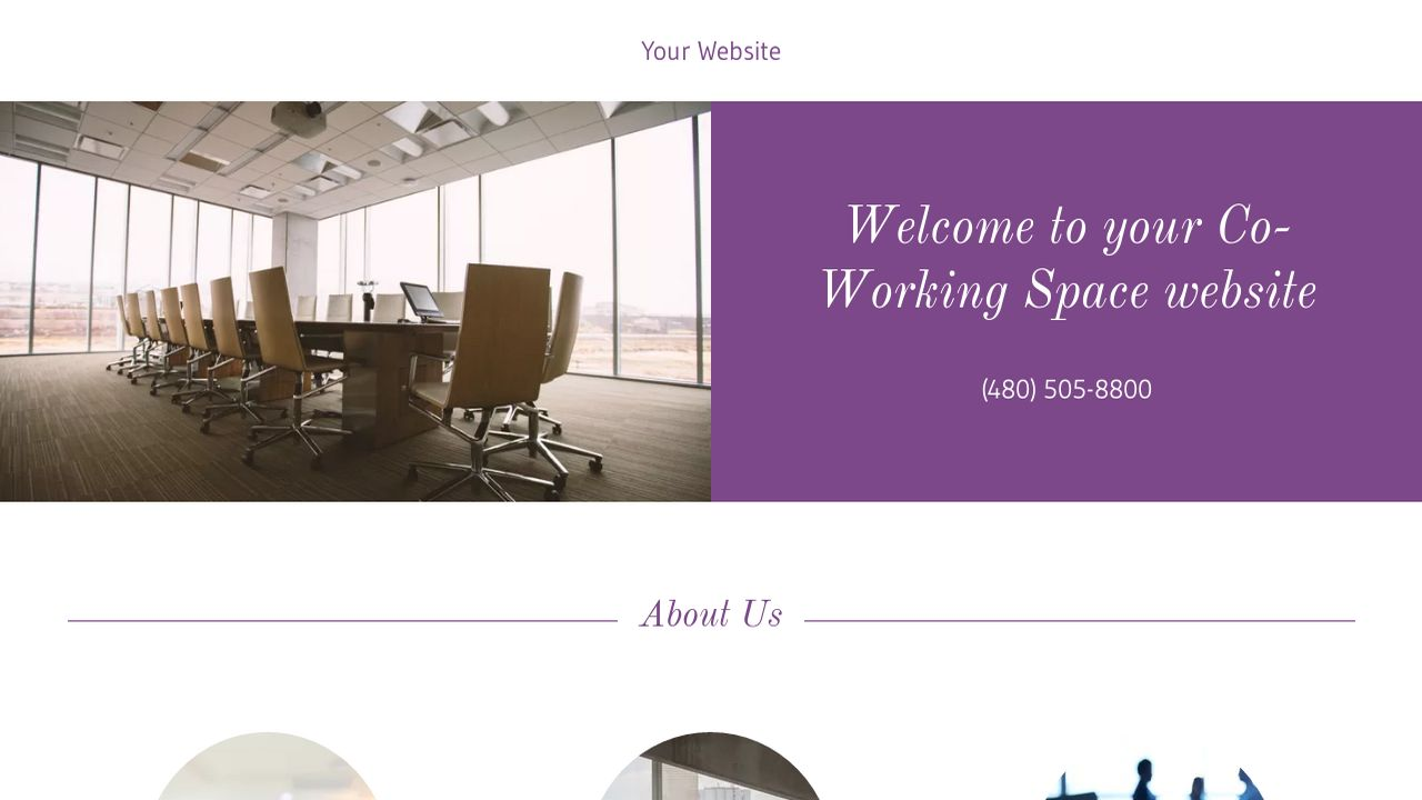 Co-Working Space Website: Example 6