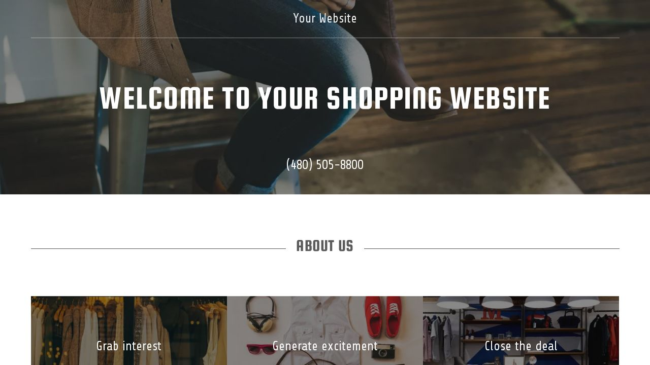 Shopping Website: Example 4