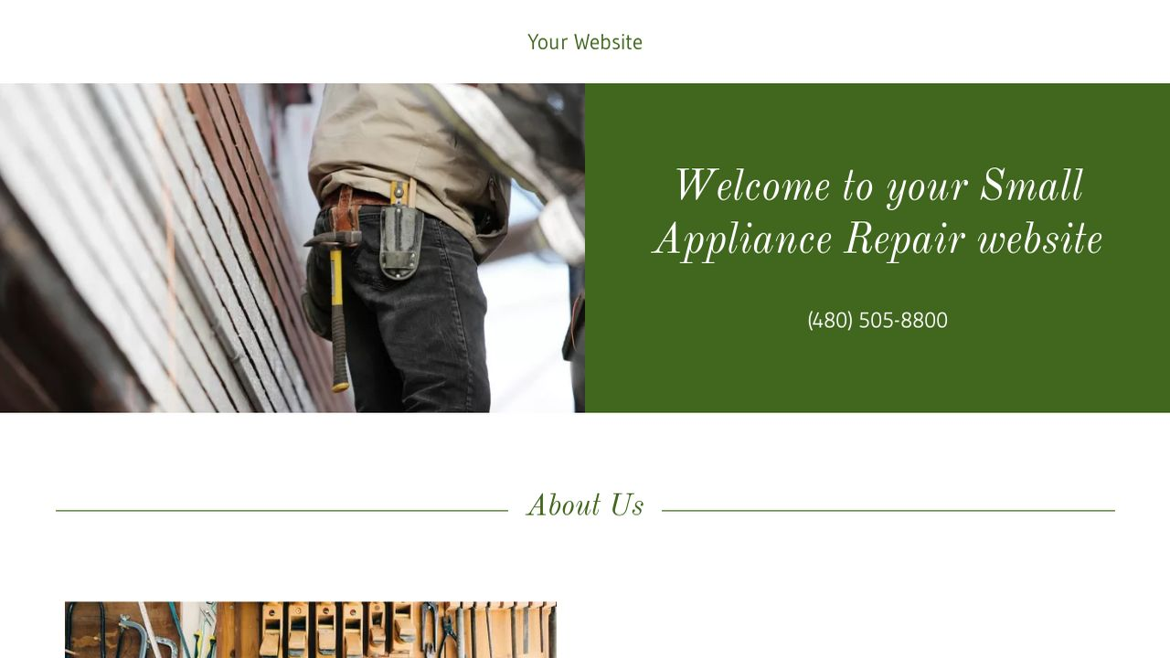 Small Appliance Repair Website Templates