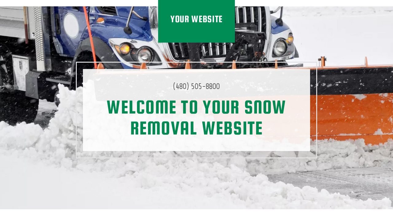 Snow Removal Website Templates | GoDaddy