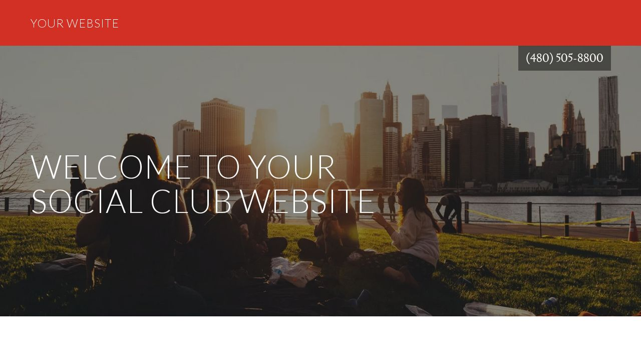 example 12 social club website template