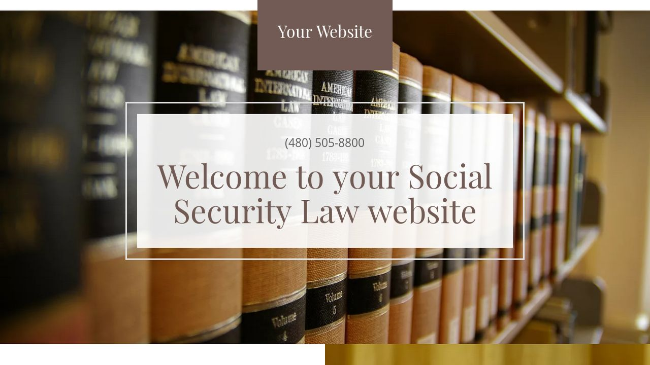 social security law website templates