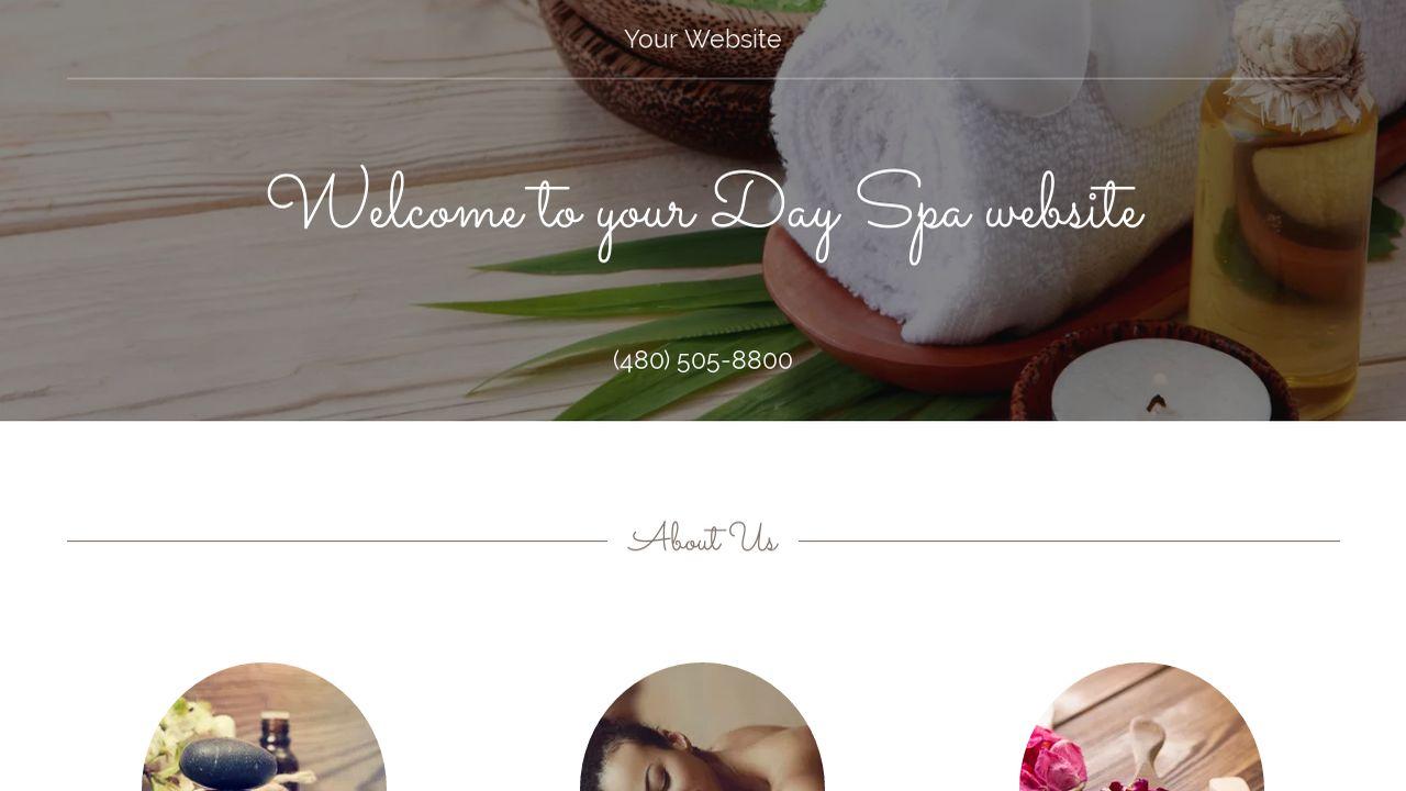 day spa website templates godaddy