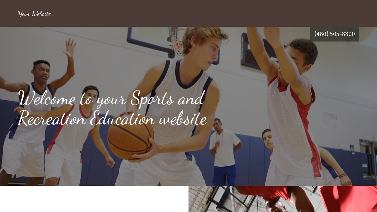 Sports and Recreation Education  Website: Example 10