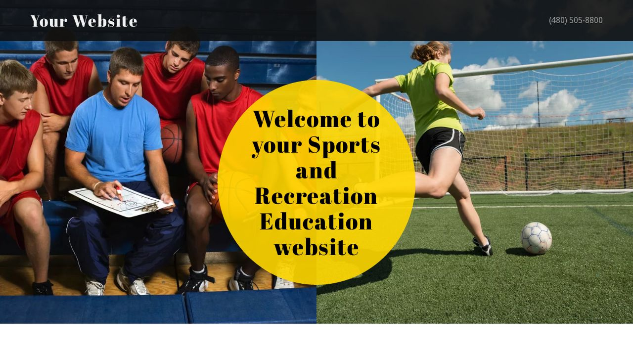 Sports and Recreation Education  Website: Example 12