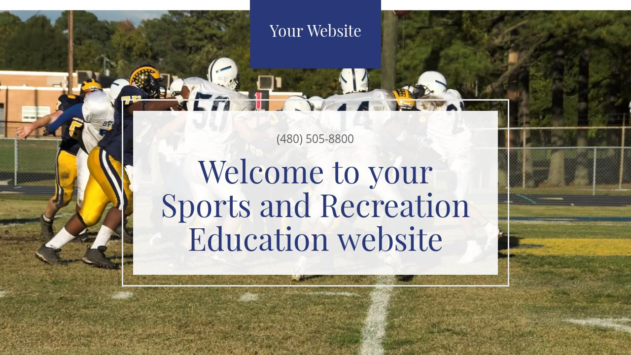 Sports and Recreation Education  Website: Example 13