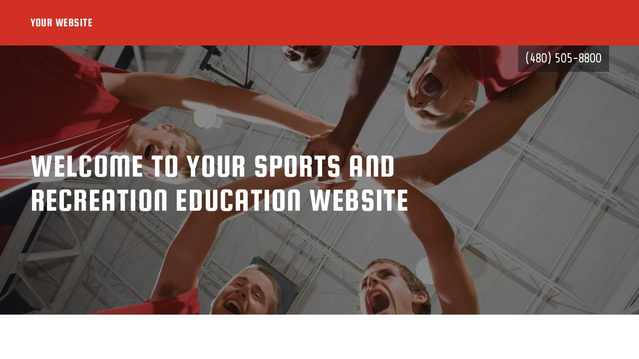 Sports and Recreation Education  Website: Example 17
