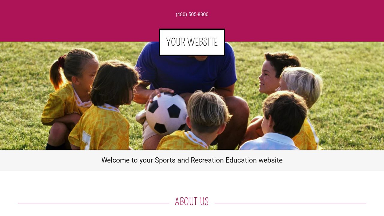 Sports and Recreation Education  Website: Example 18