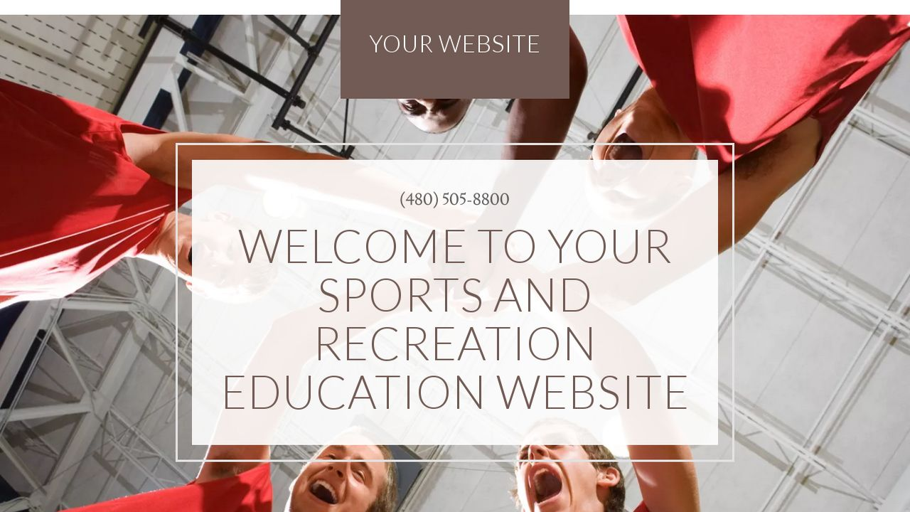 Sports and Recreation Education  Website: Example 6