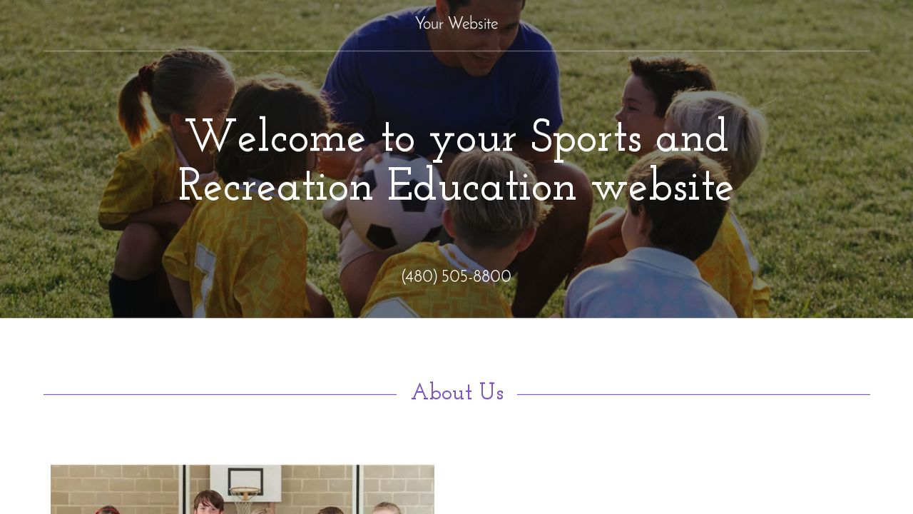 Sports and Recreation Education  Website: Example 7