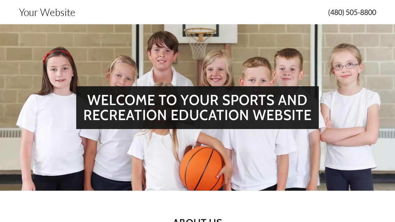 Sports and Recreation Education  Website: Example 8