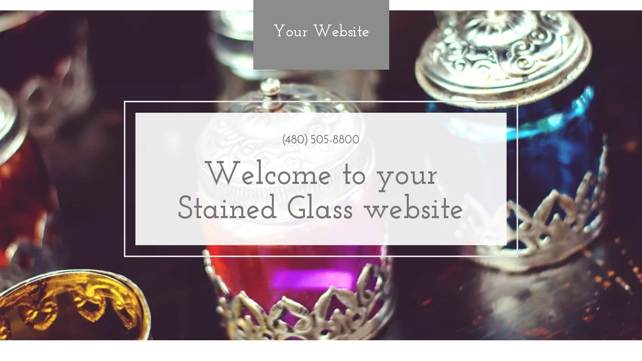 Stained Glass Website: Example 1
