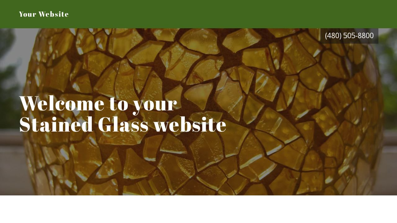Stained Glass Website: Example 10