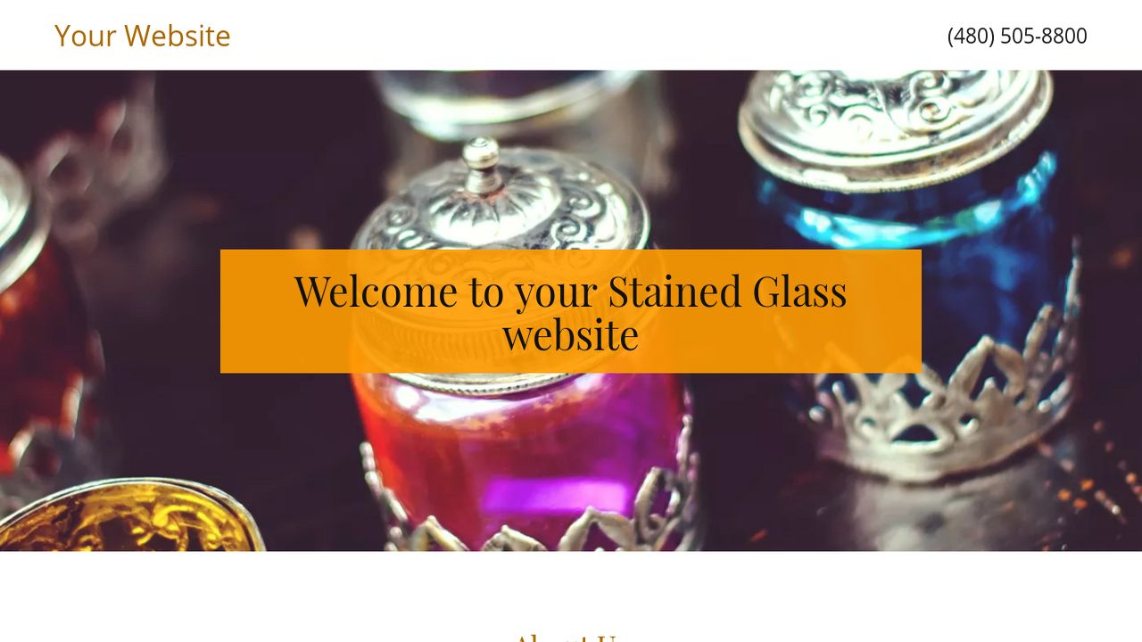 Stained Glass Website: Example 11