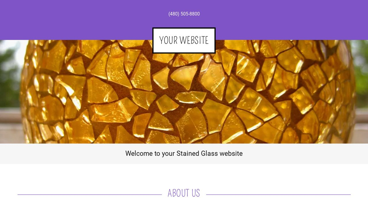Stained Glass Website: Example 13