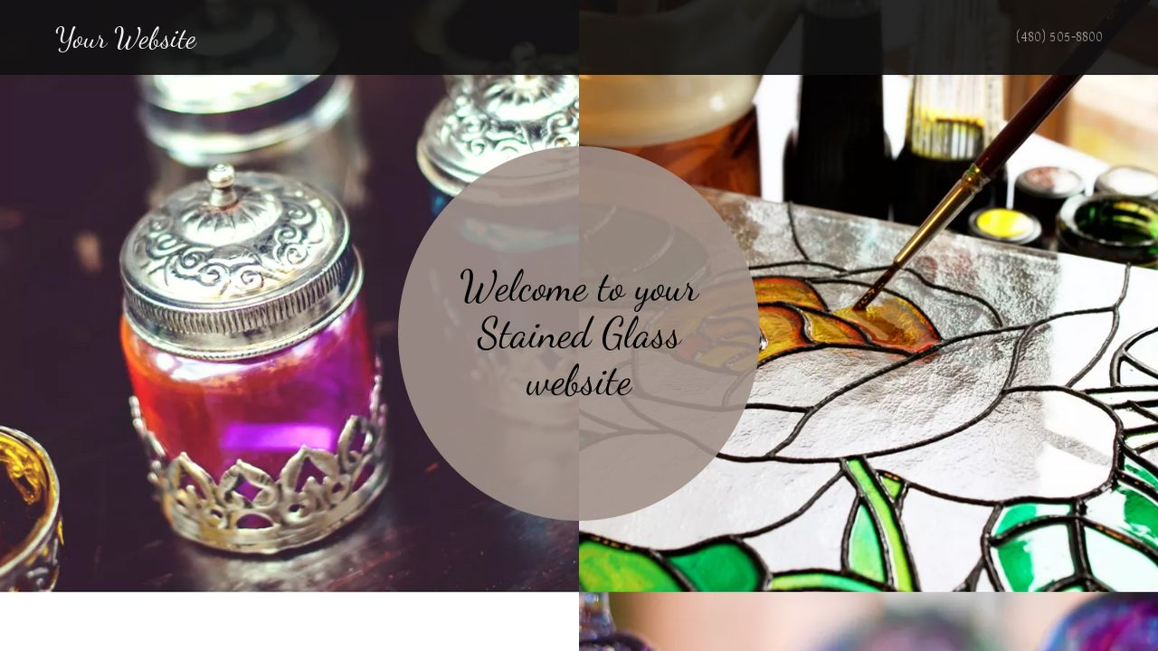 Stained Glass Website: Example 14
