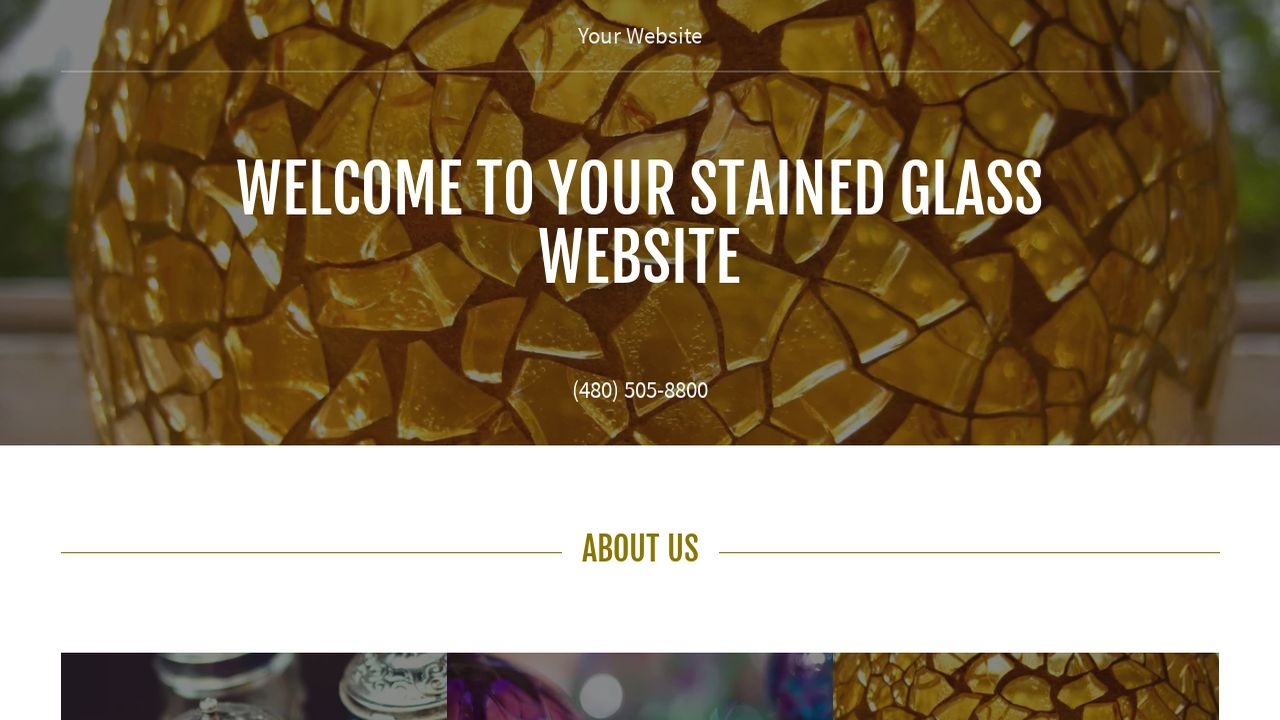 Stained Glass Website: Example 16