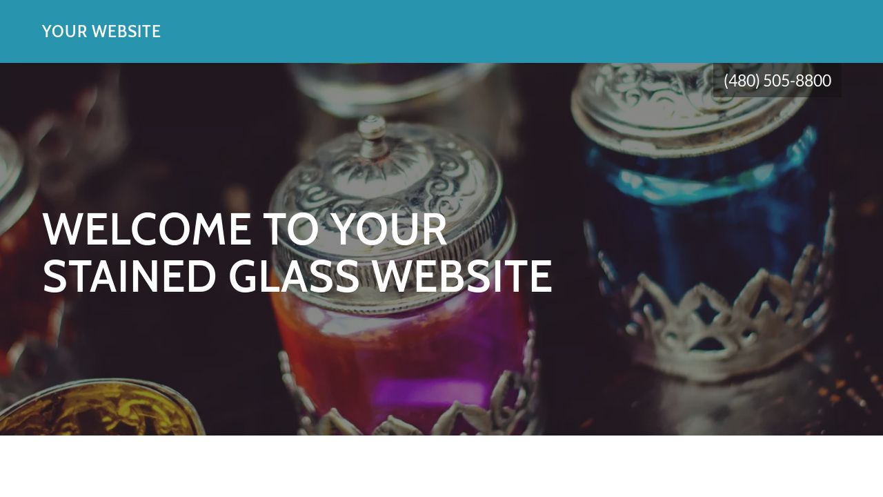 Stained Glass Website: Example 17