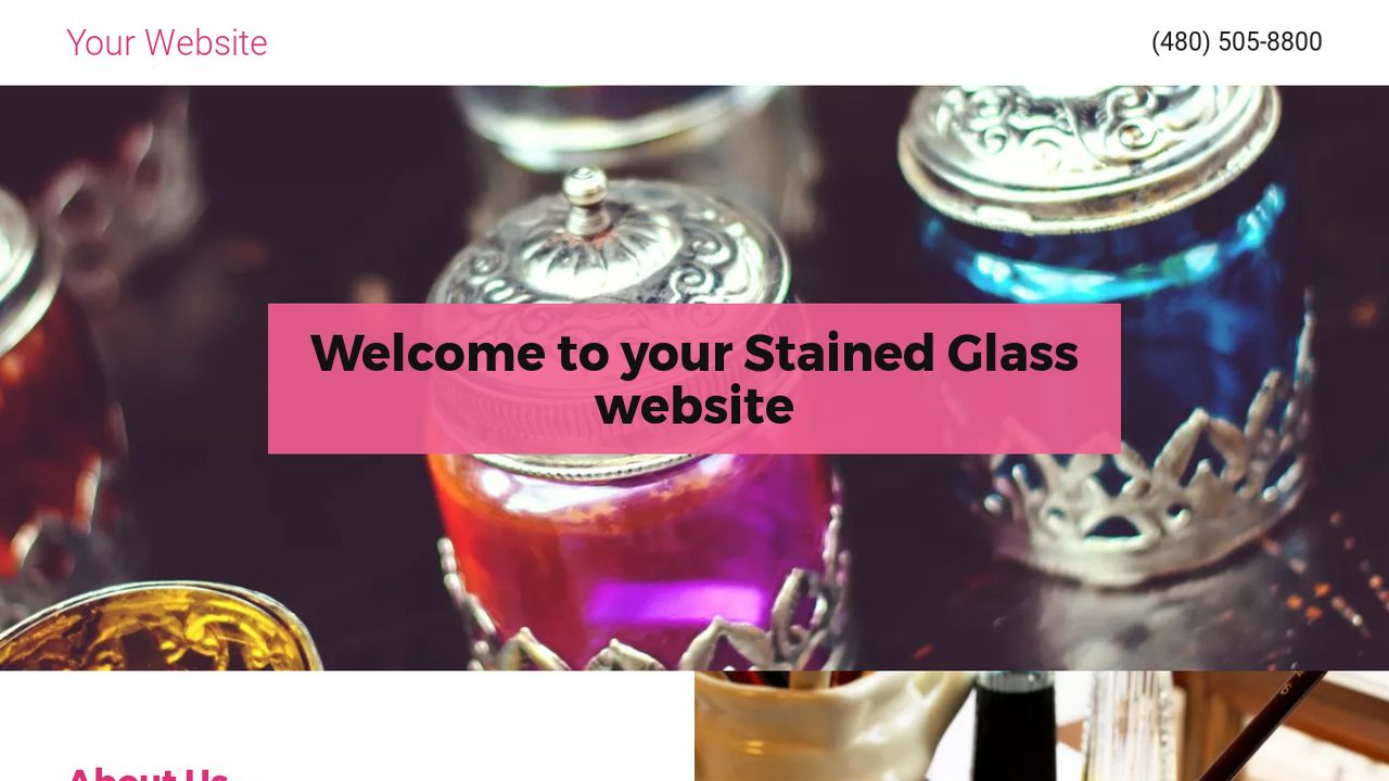 Stained Glass Website: Example 4