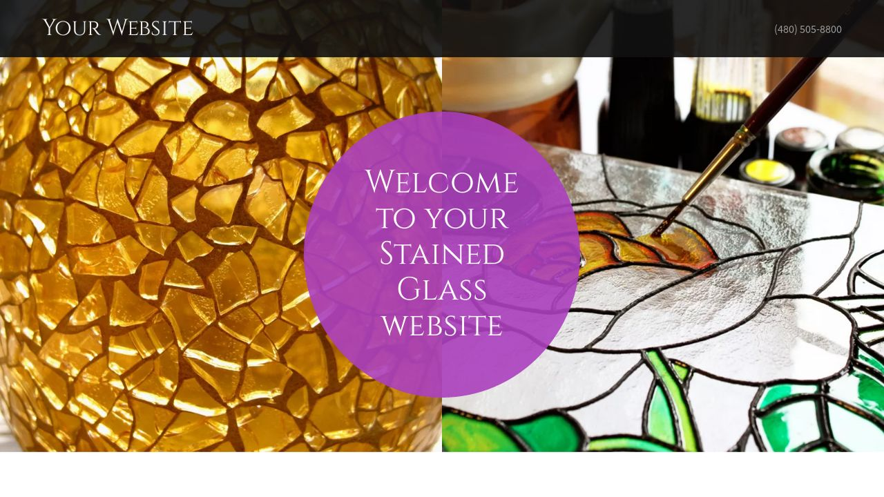 Stained Glass Website: Example 7