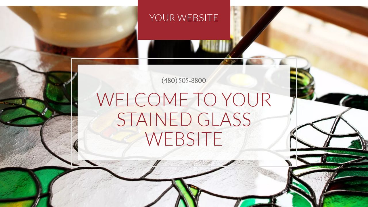 Stained Glass Website: Example 8