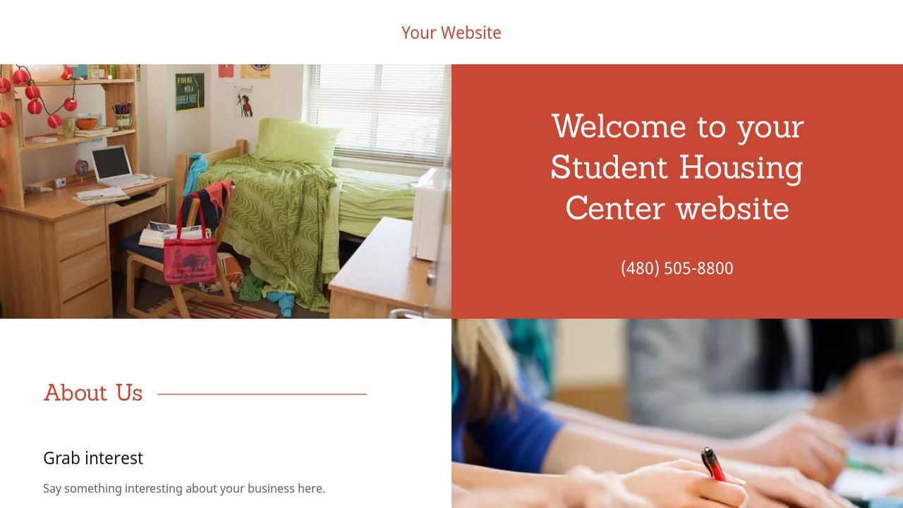 Student Housing Center Website: Example 14