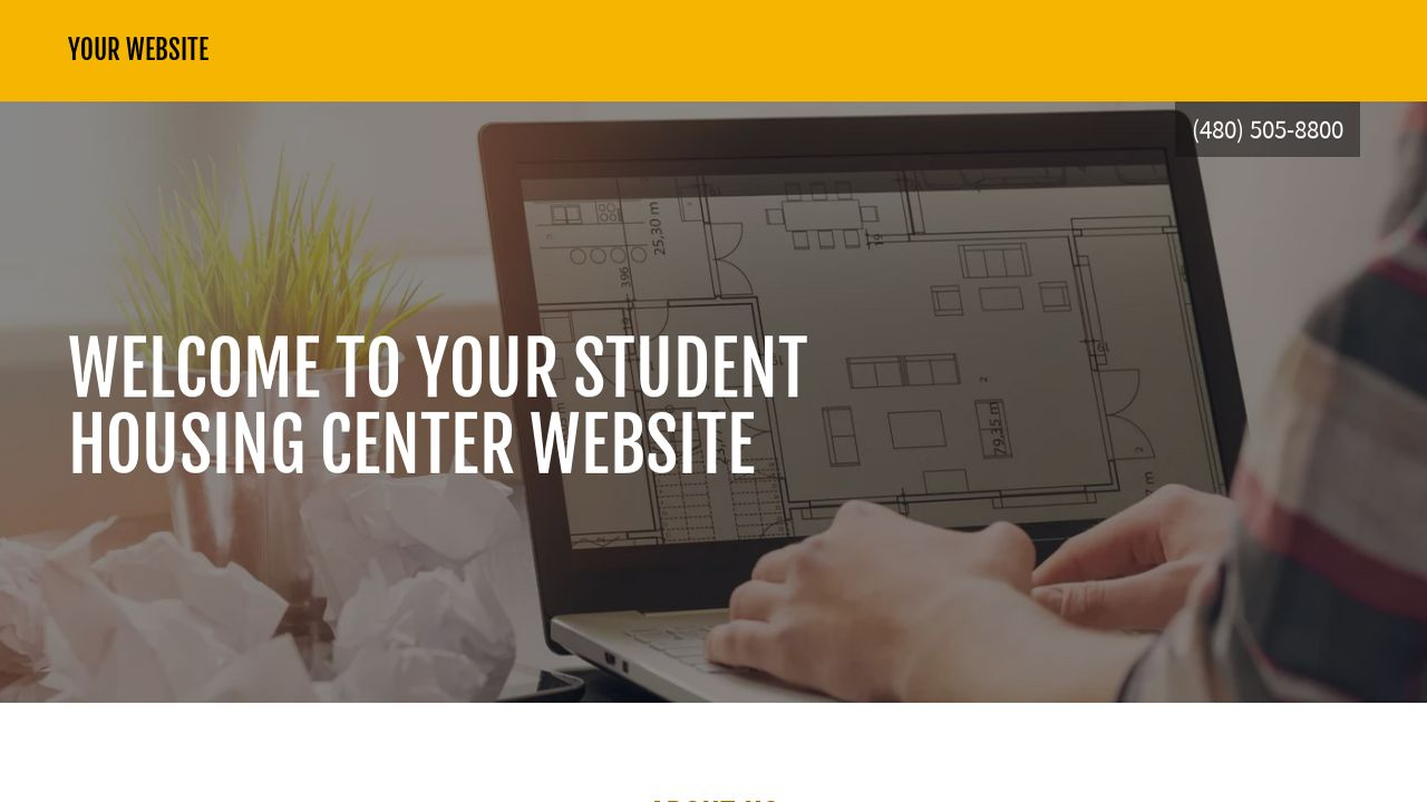 Student Housing Center Website: Example 16