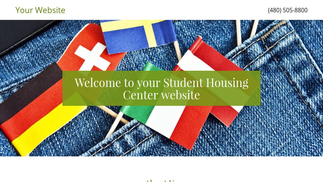Student Housing Center Website: Example 17