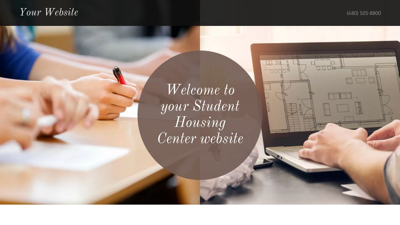 Student Housing Center Website: Example 18