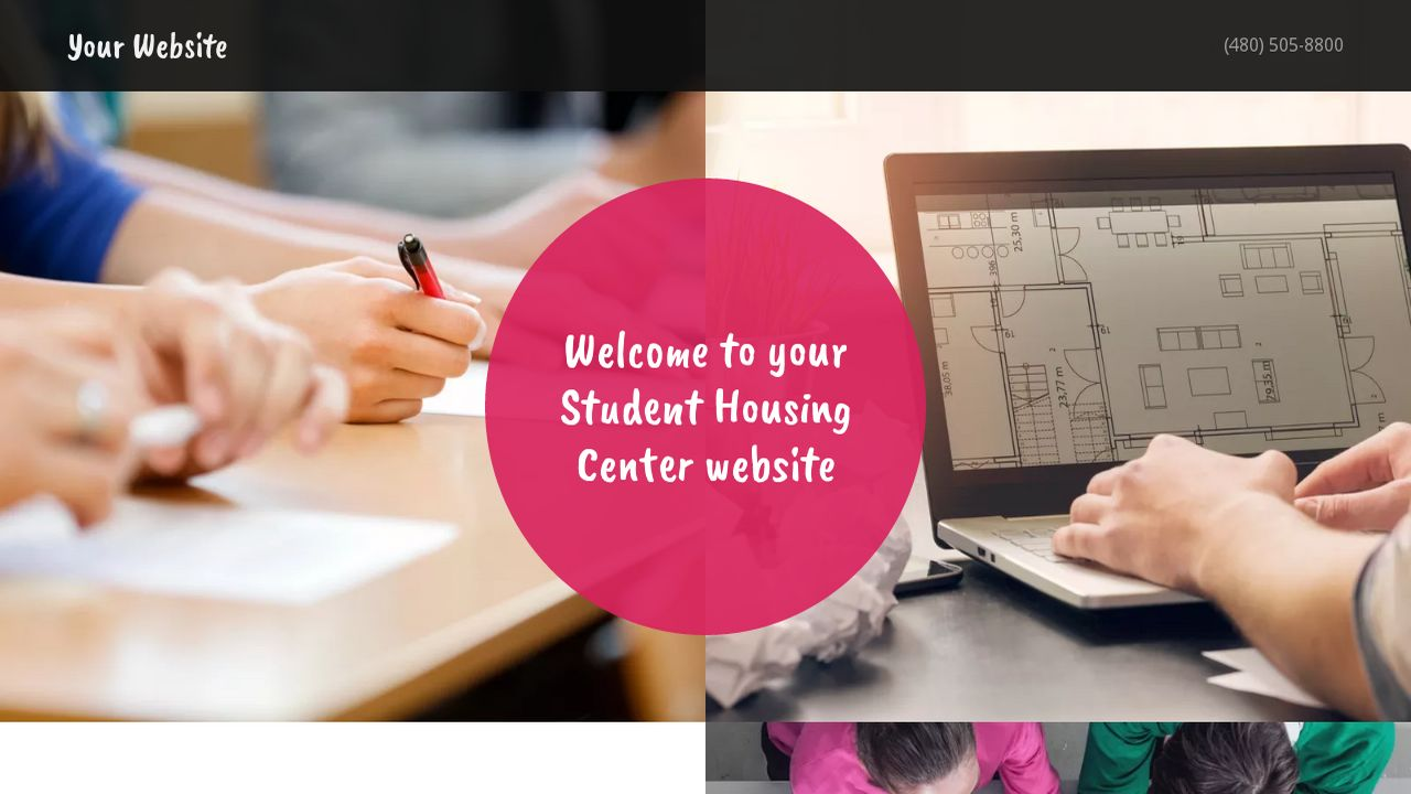 Student Housing Center Website: Example 4