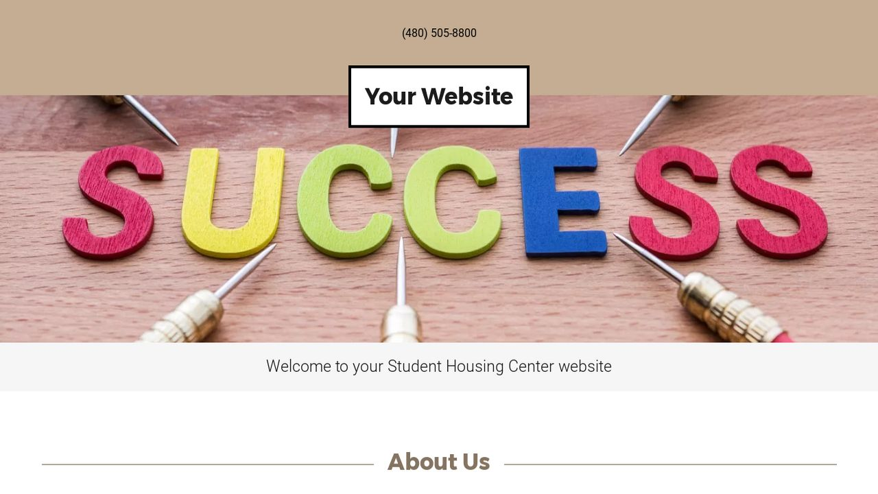 Student Housing Center Website: Example 5