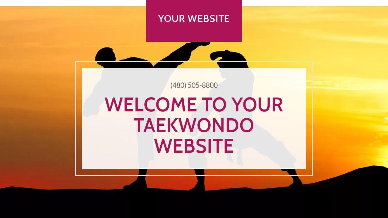 Taekwondo website templates godaddy taekwondo example 10 alramifo Choice Image