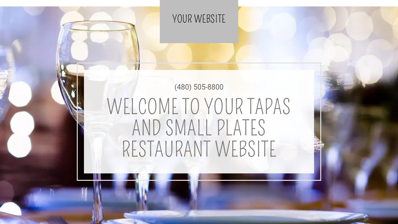 Tapas and small plates restaurant website templates godaddy for Tapas menu template
