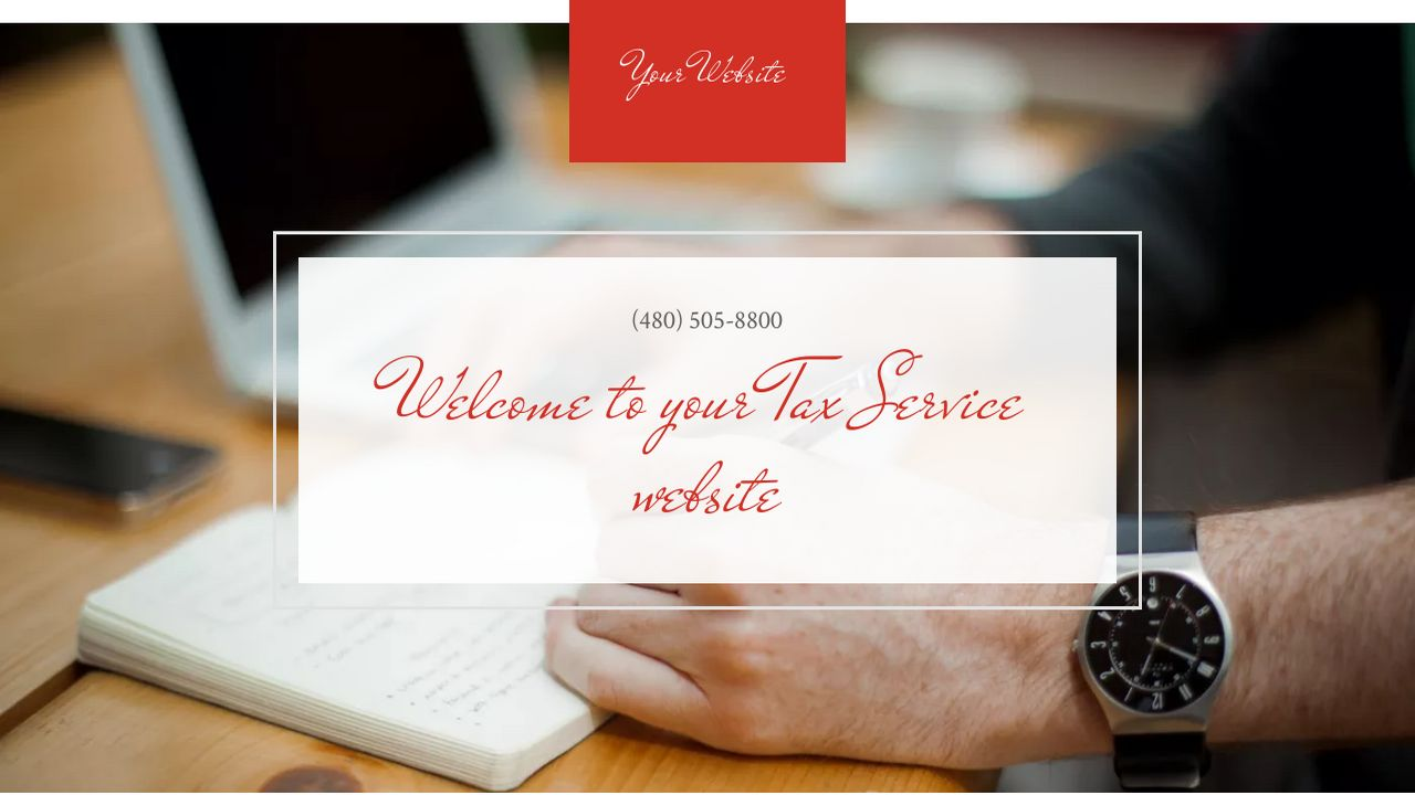 Tax Service Website: Example 2