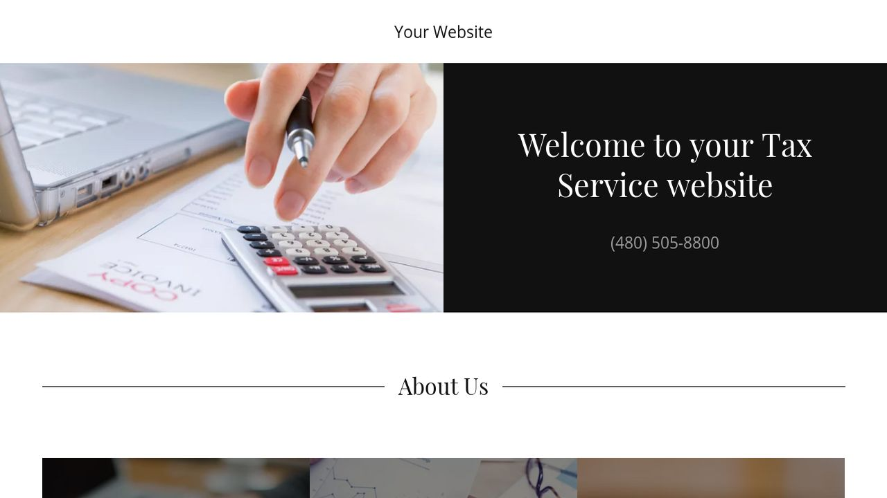 Tax Service Website: Example 4
