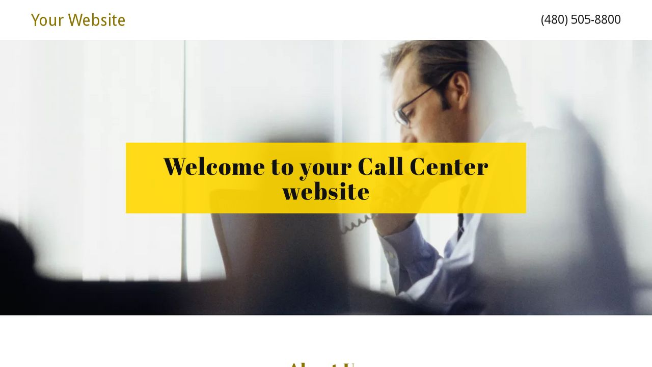 Call Center Website: Example 1