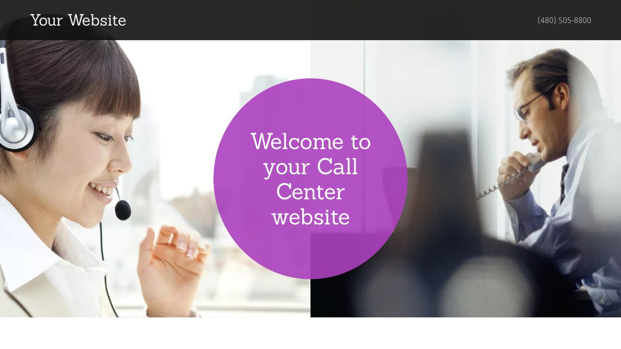 Call Center Website: Example 10