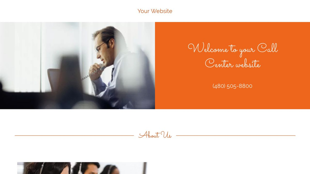 Call Center Website: Example 11