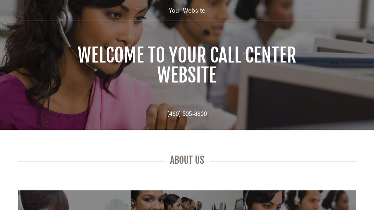 Call Center Website: Example 12