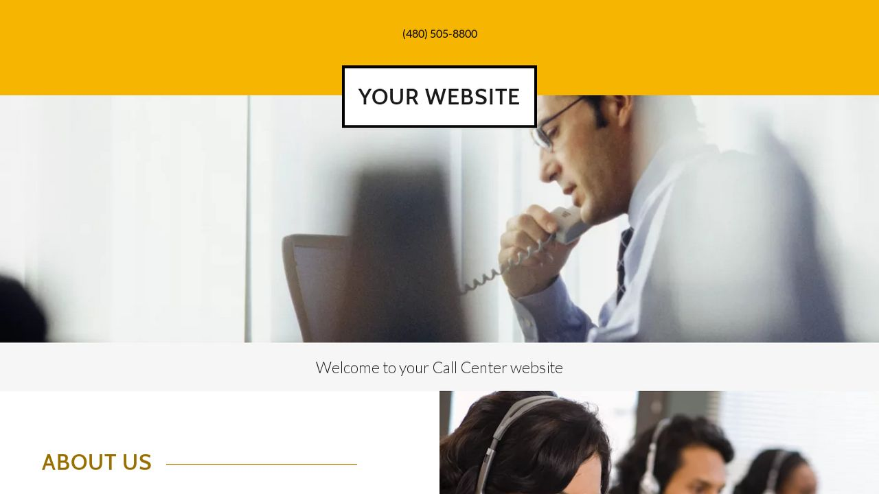 Call Center Website: Example 14