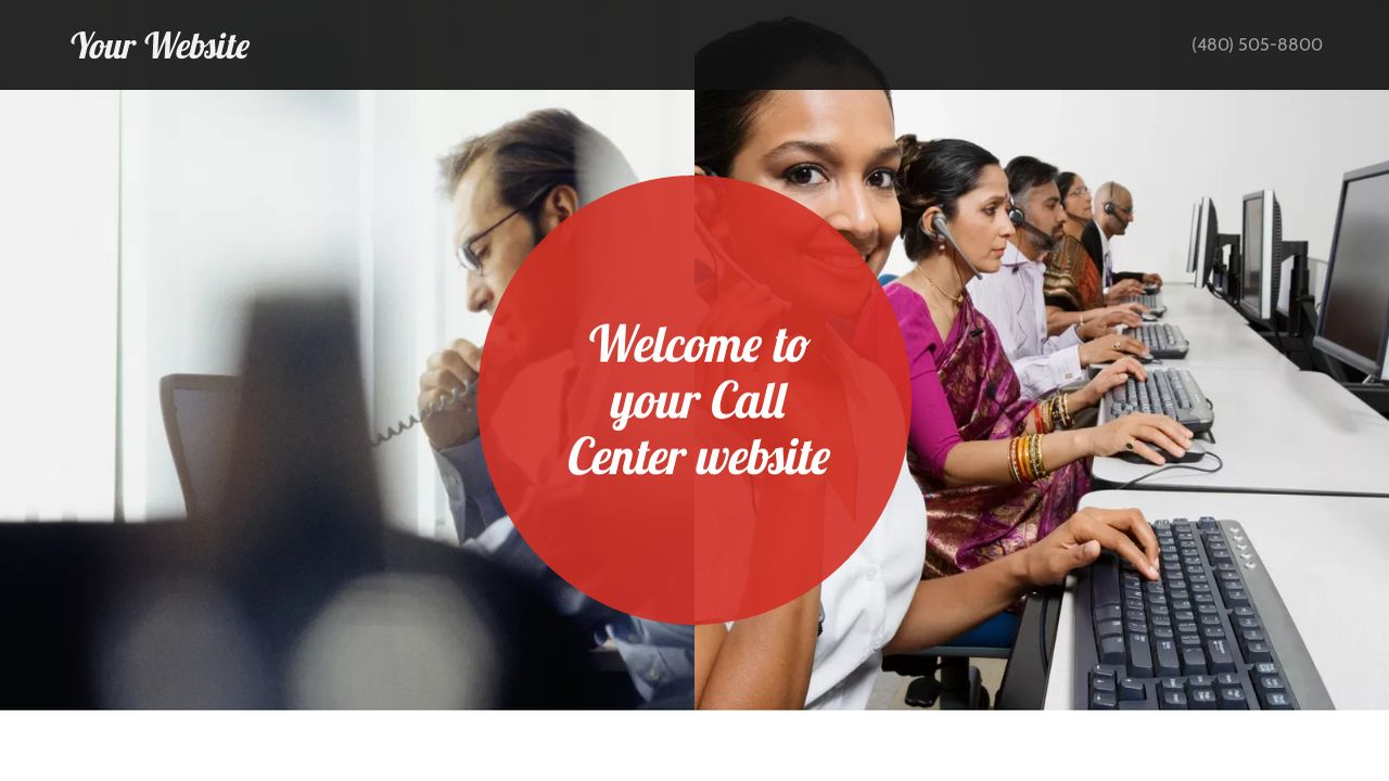 Call Center Website: Example 17