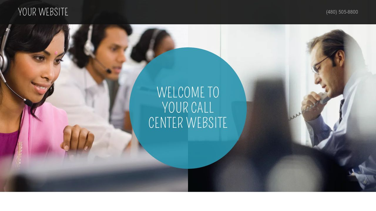 Call Center Website: Example 3