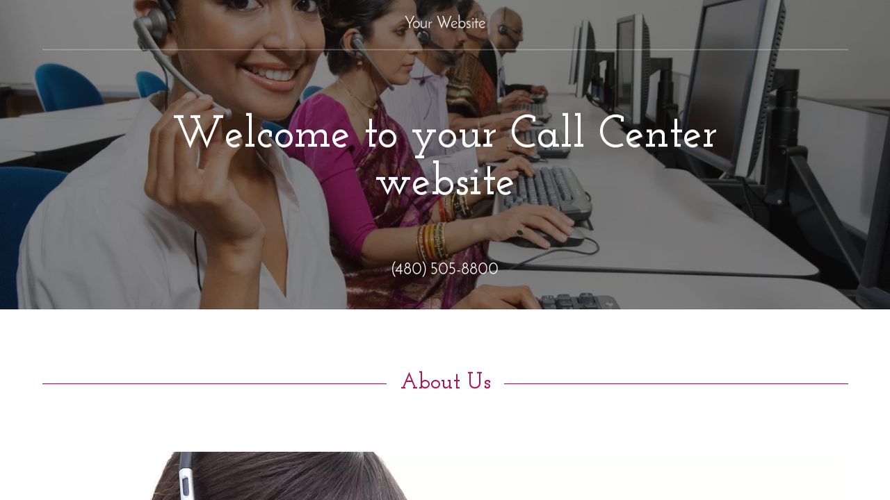 Call Center Website: Example 5