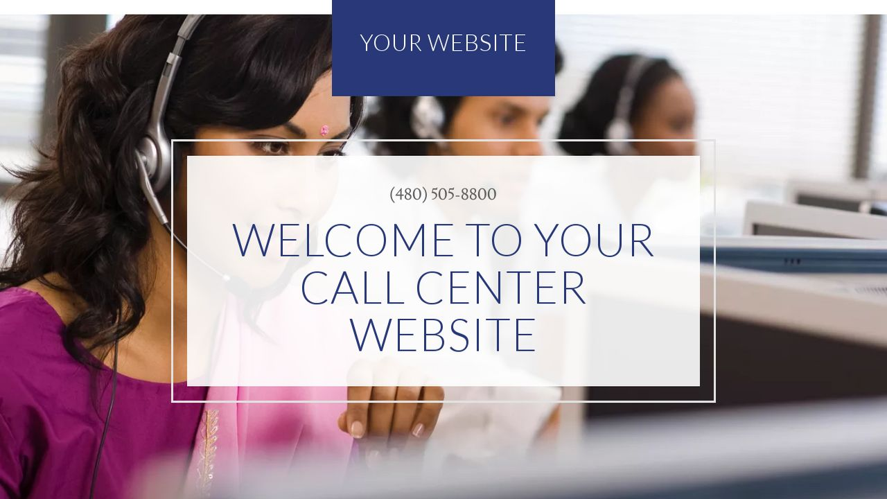 Call Center Website: Example 6