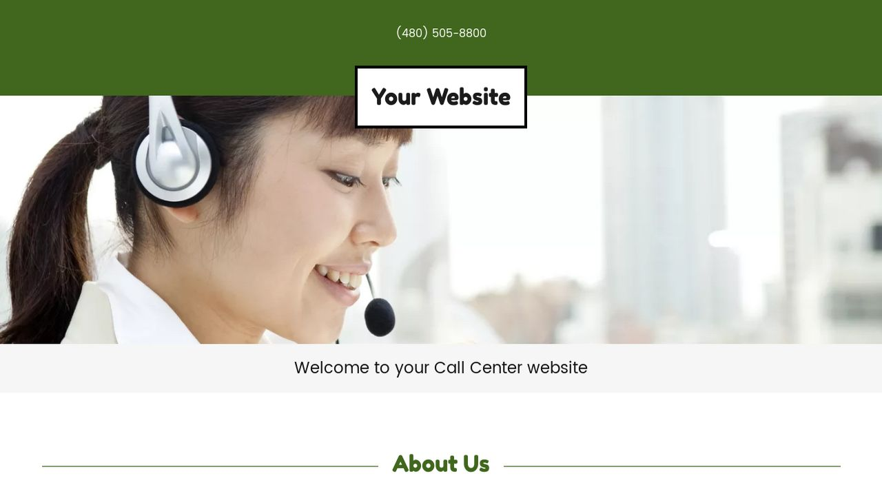 Call Center Website: Example 7