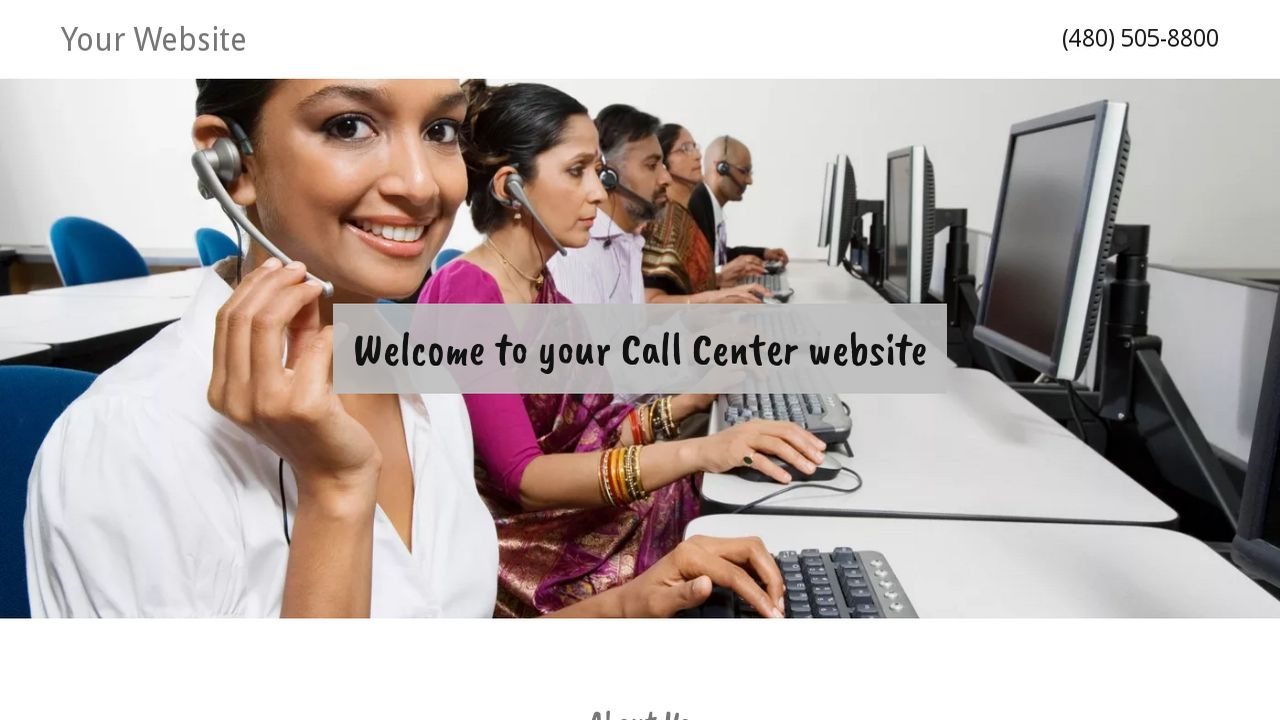 Call Center Website: Example 8