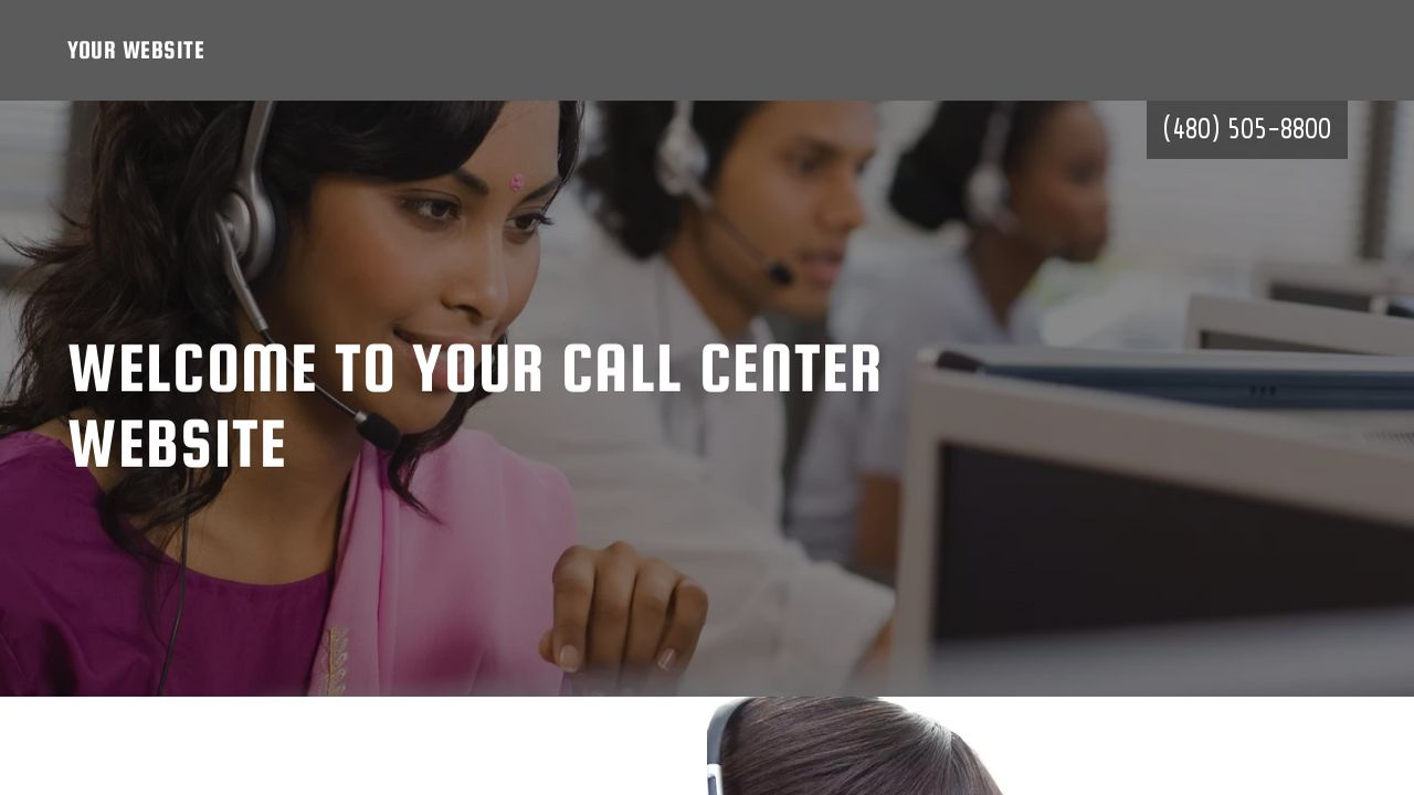 Call Center Website: Example 9